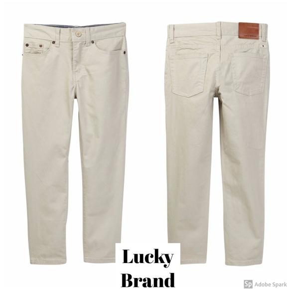 Lucky Brand Boys 5 Pocket Stretch Twill Pant